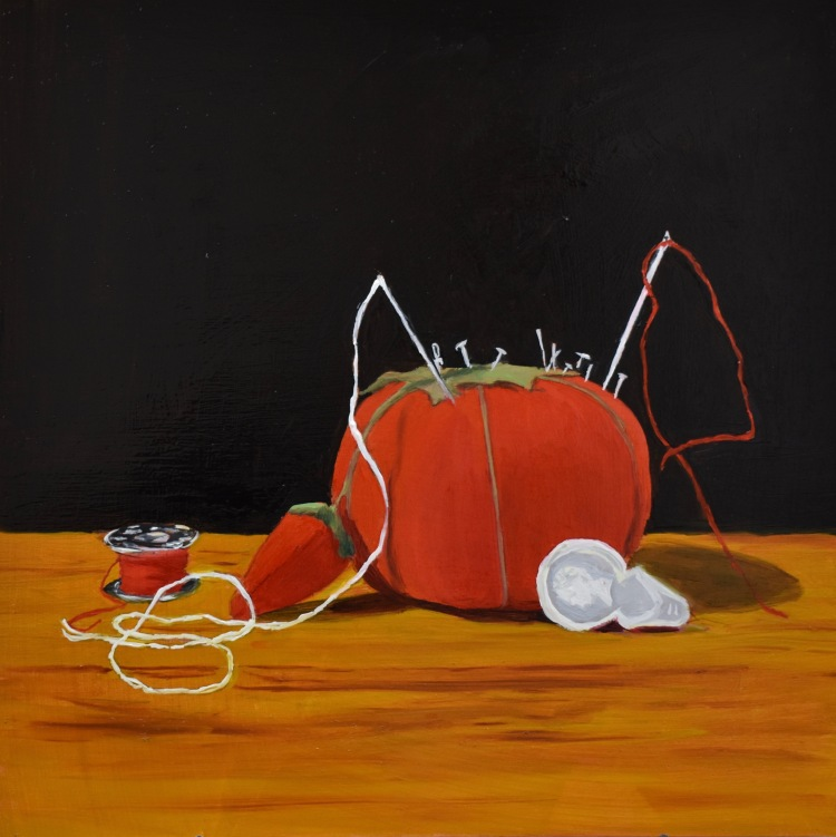 E_Warren_Pin_Cushion_12x12_oil_on_wood